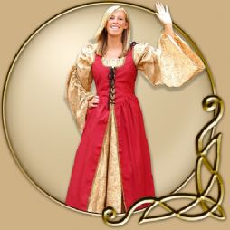 Costume - Red Top Dress with Detachable Sleeves